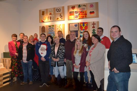 Visit of 41 Army Education Centre in the Exhibition - they made the patchwork quilt